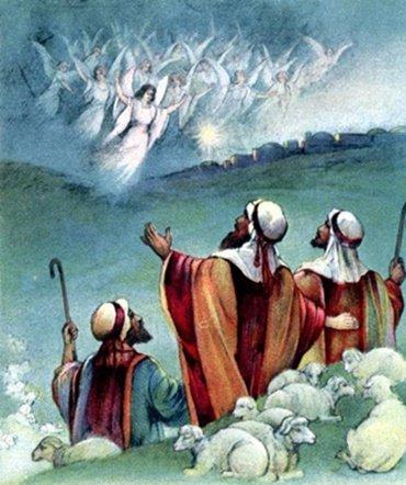 ანგელოზები ემსახურებიან ხარებას