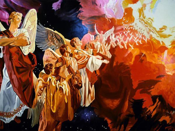 ანგელოზები ცეცხლის ალის სახით