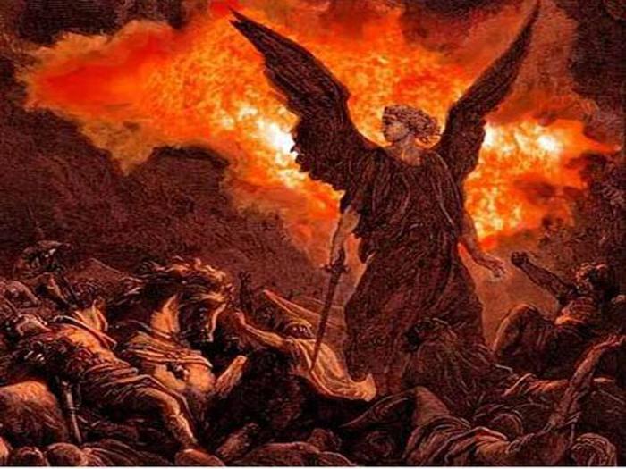 ღვთის ურჩთ ღუპავს გამნადგურებელი, გამწყვეტი, შემმუსვრელი ანგელოზები